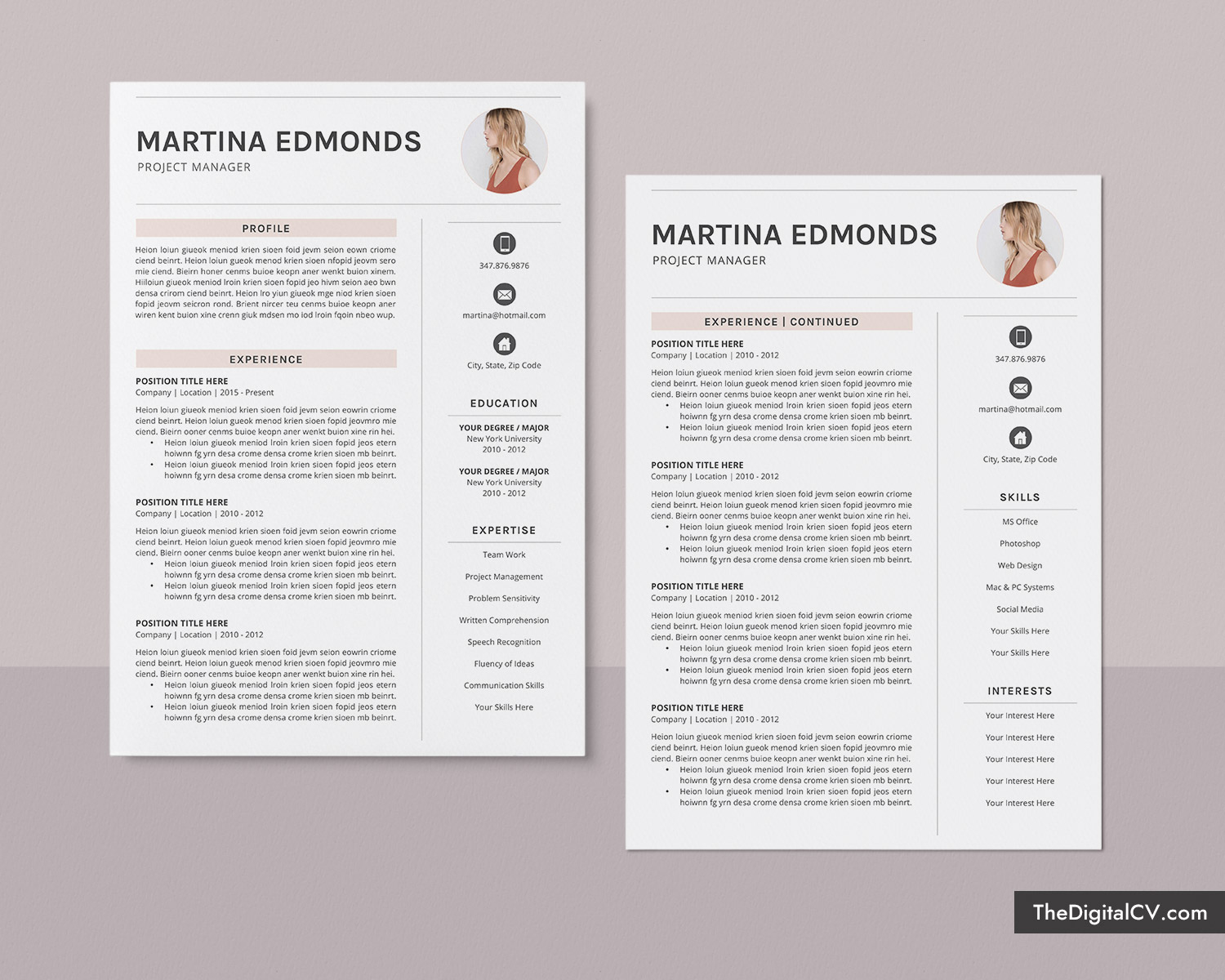 Creative Resume Template For Ms Word Simple Resume Basic Resume