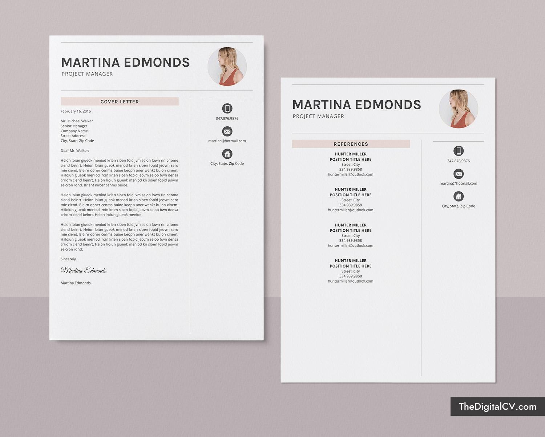 Creative Resume Template For Ms Word Simple Resume Basic Resume Cover Letter 1 2 3 Page Resume Design Professional Resume Job Resume Editable Resume Teacher Resume Instant Download Martina Resume Thedigitalcv Com