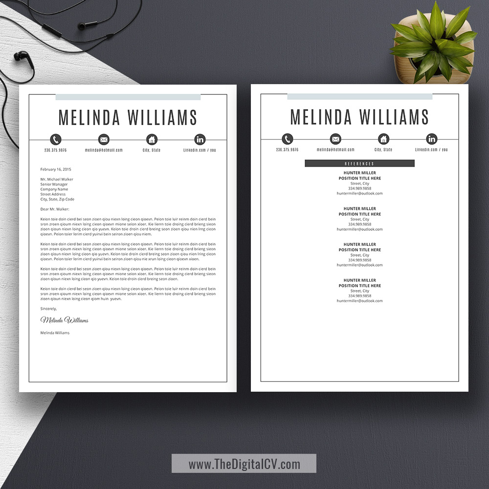 resume template download 2019  cv template  cover letter  references  word resume  resume fonts