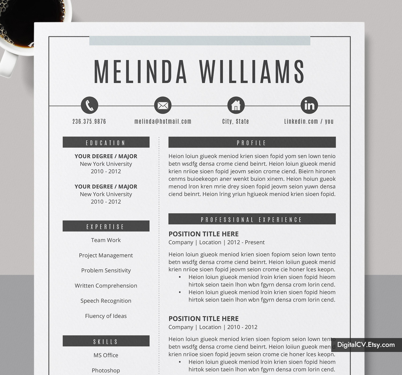 Microsoft Word Resume Template Cv Template Curriculum