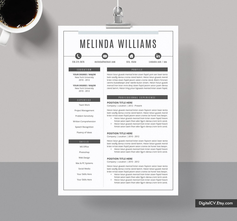 microsoft word resume template 2019