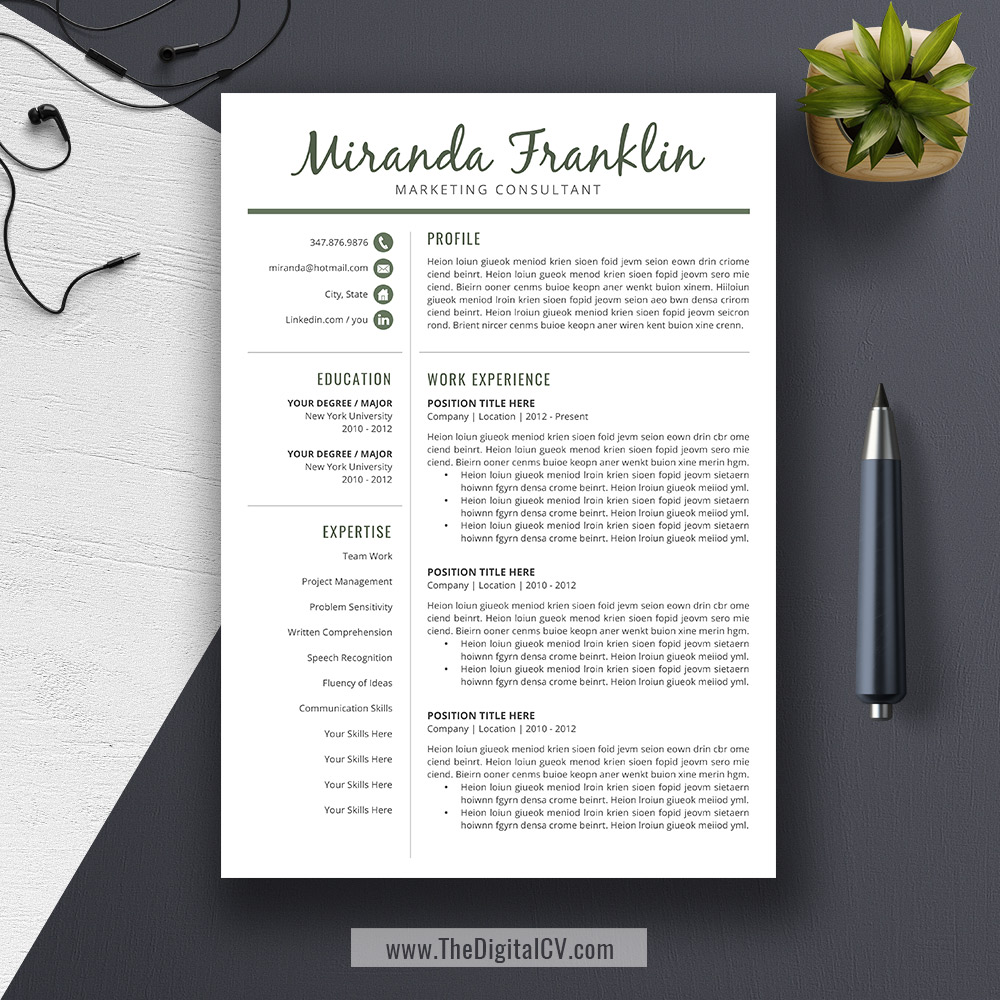 2019 2020 Resume Templates With Cover Letter And Resume