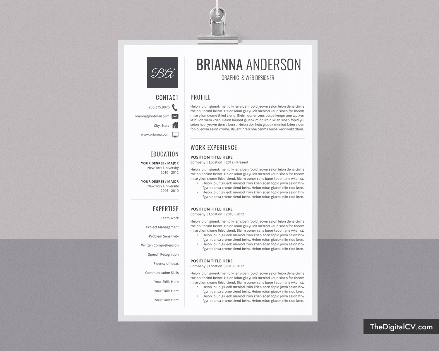 3 Page Resume.Editable Resume Template For Word 1 3 Page Job Resume Template Simple Cv Template Cover Letter Modern Resume Creative Resume Professional