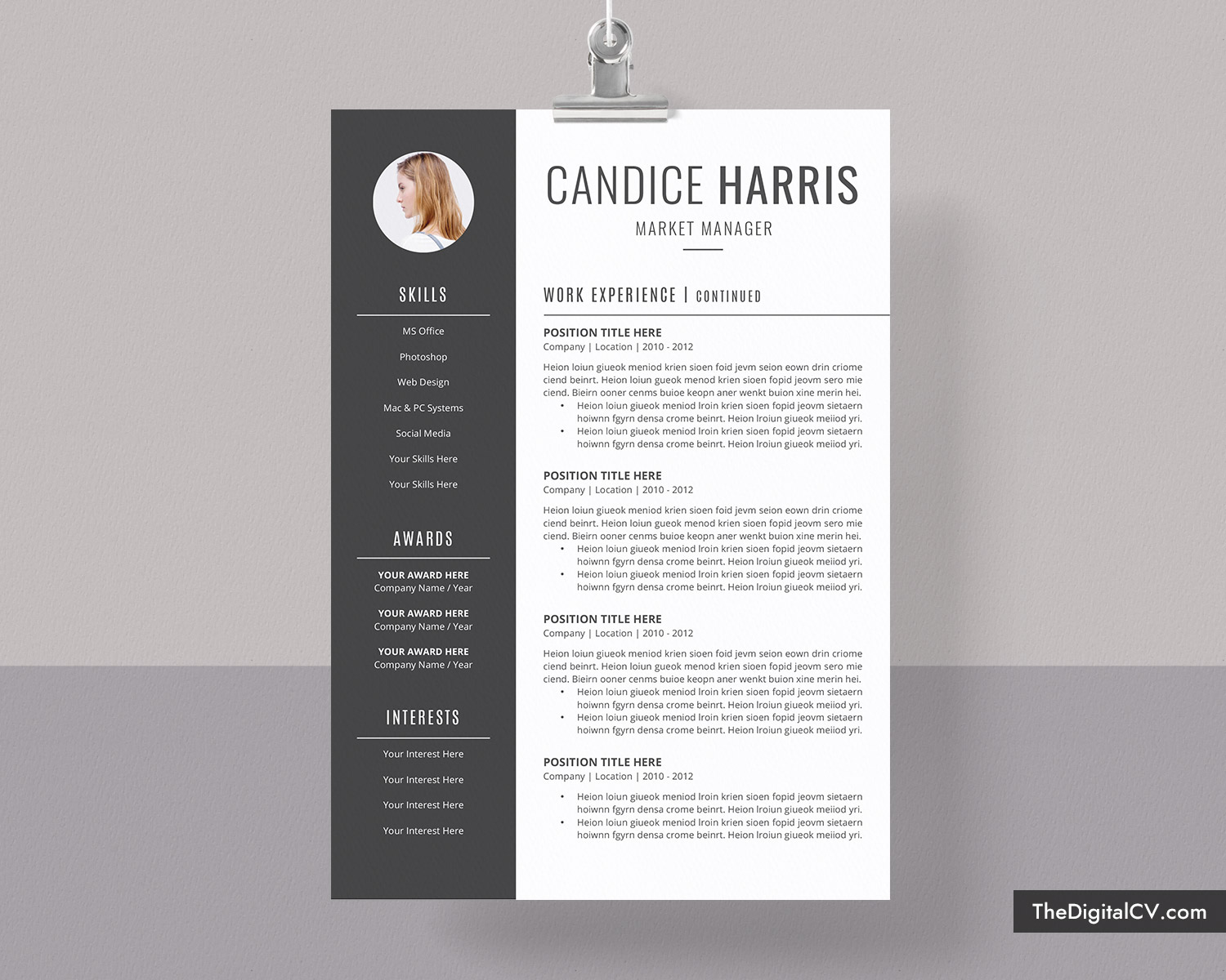 Professional Resume Template For Ms Word 2019 2020 Cv Template Cover Letter Modern Resume Creative Resume 1 3 Page Job Resume Teacher Resume