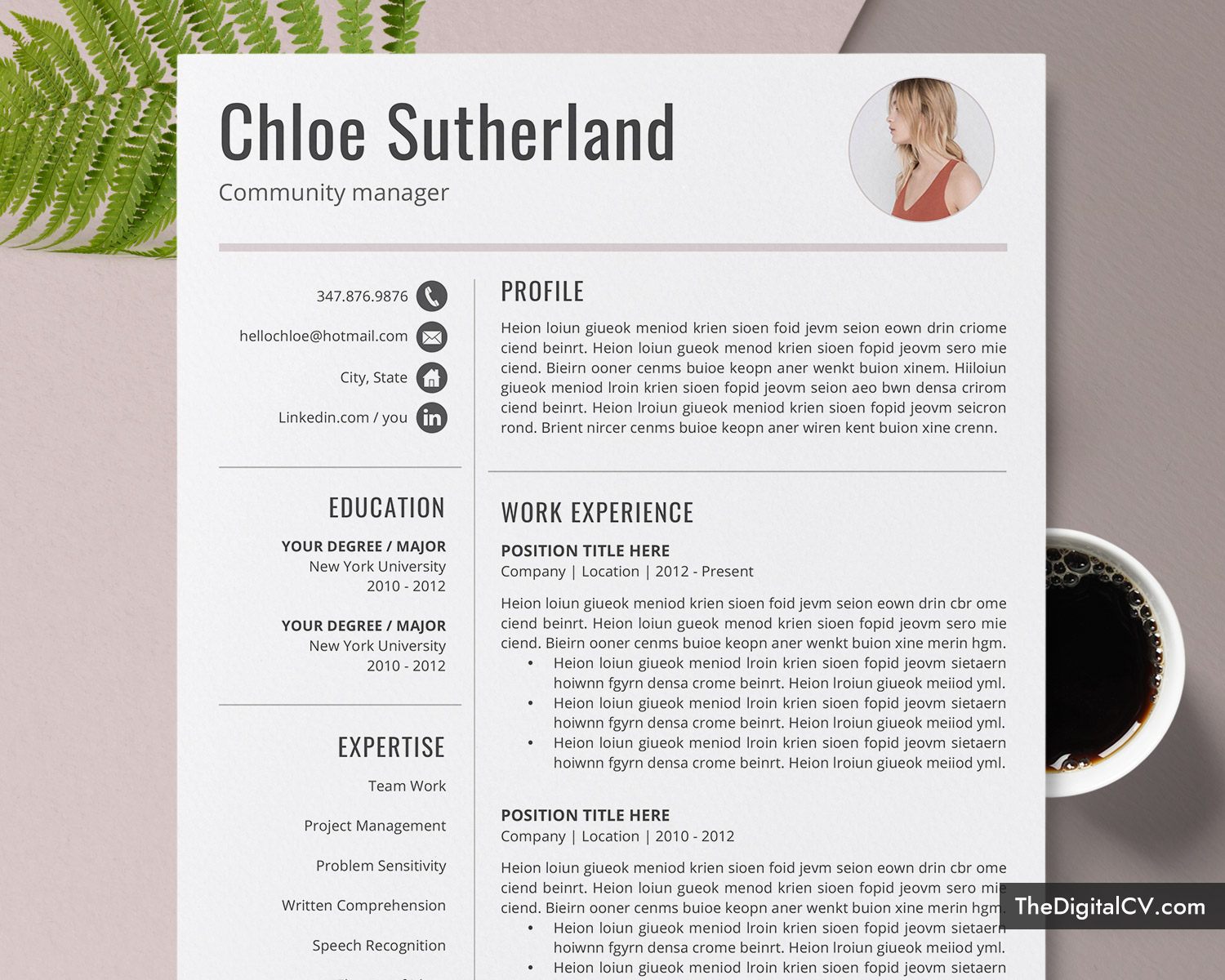 Editable Resume Template For Word 1 3 Page Resume Job Resume