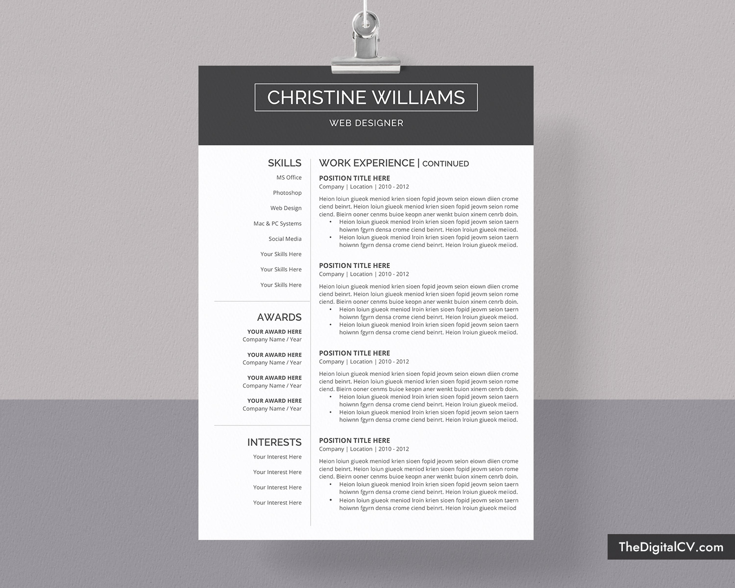 Simple and Basic Resume Template 2019-2020, CV Template, Cover Letter,  Microsoft Word Resume Template, 1-3 Page, Modern Resume, Creative Resume,  ...