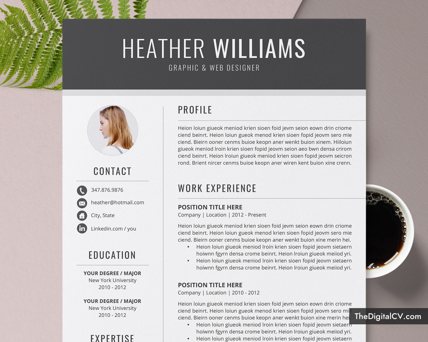 Resume Template For Job Application 2020 2021 Cv Template Cover Letter 1 3 Page Word Resume Modern And Creative Resume Professional Resume Job
