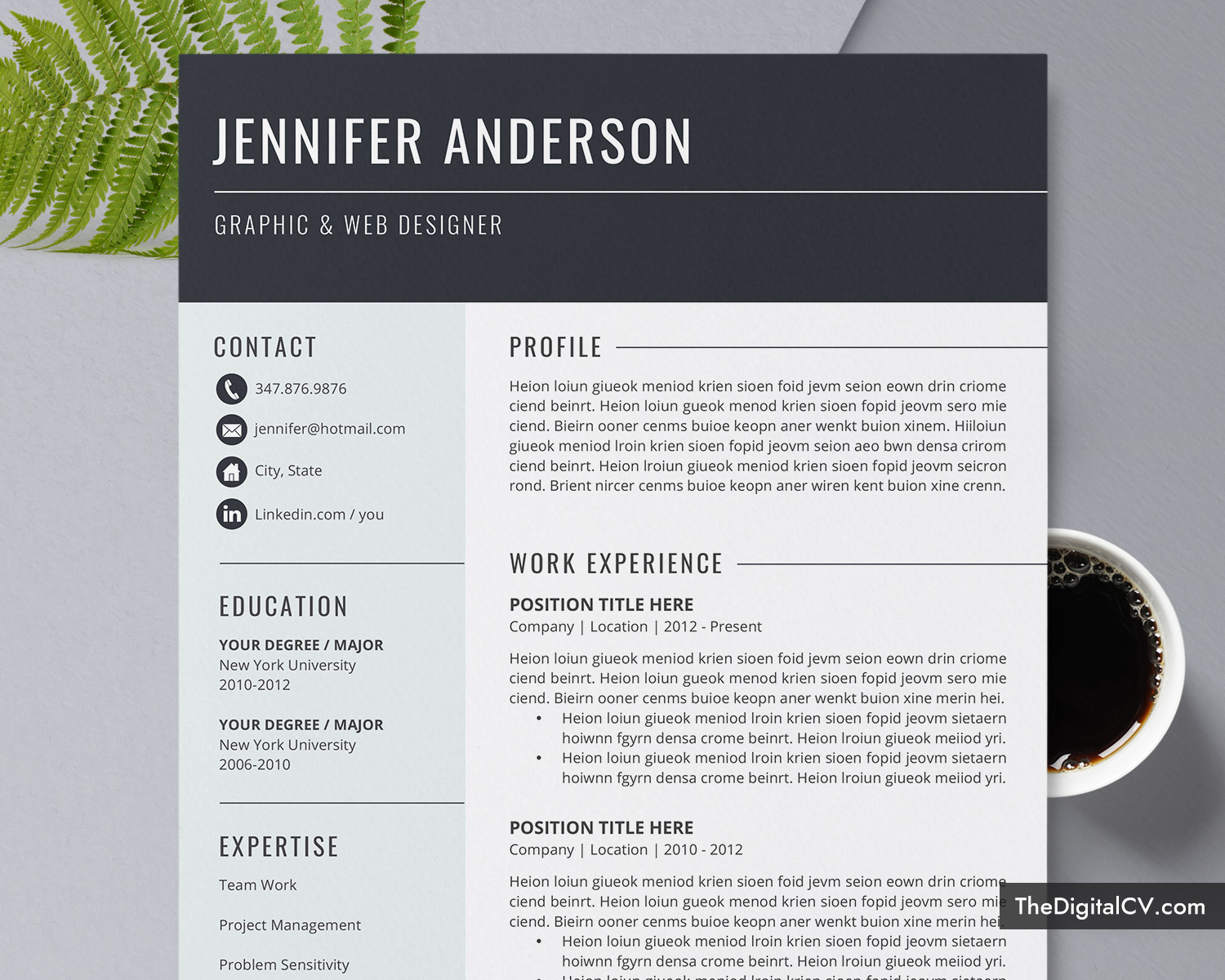 Basic And Simple Resume Template 2019 2020 Cv Template Cover Letter Microsoft Word Resume Template 1 3 Page Modern Resume Creative Resume