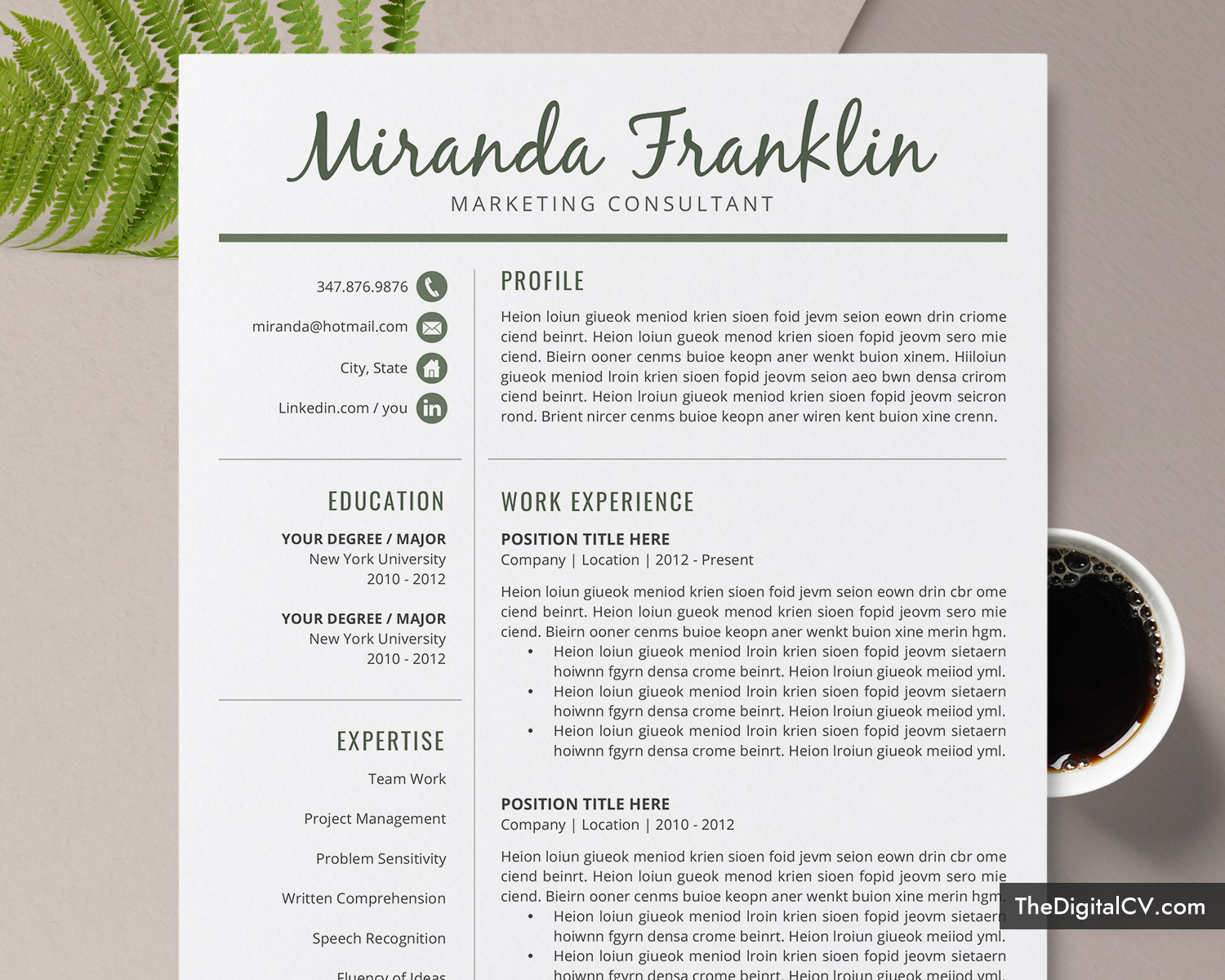 Best Resume Templates 2020.Thedigitalcv Com Page 2 2019 2020 Job Winning Resume