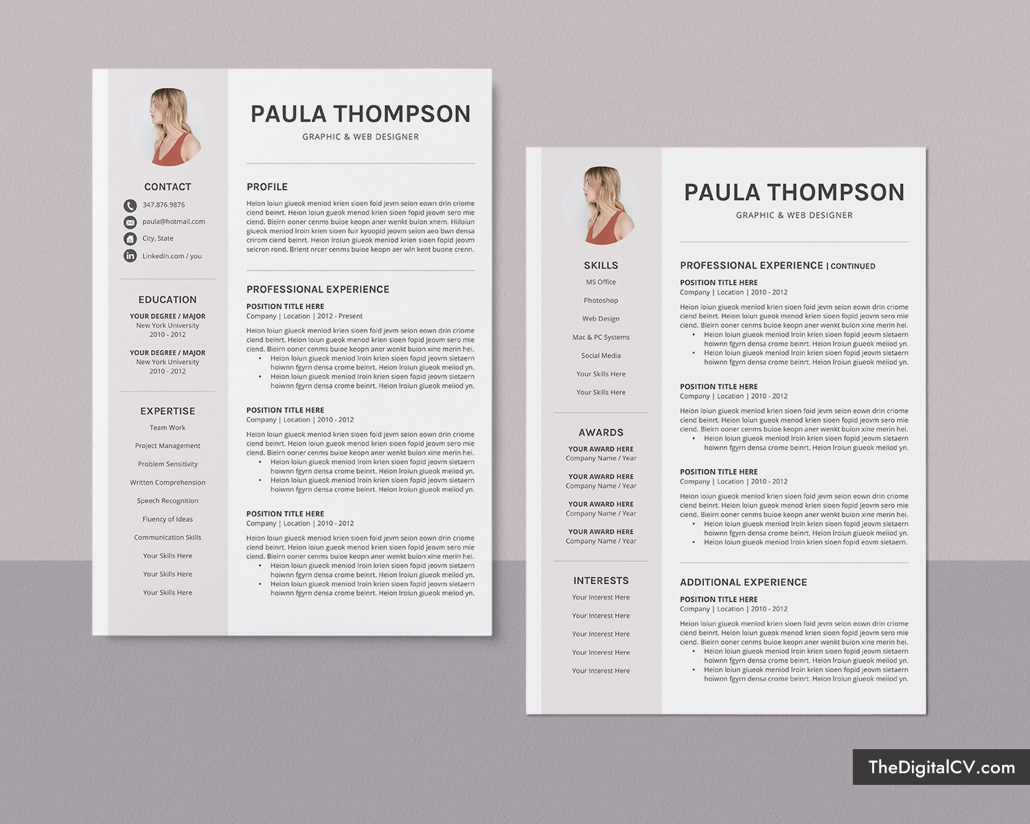 modern cv template for ms word 2020