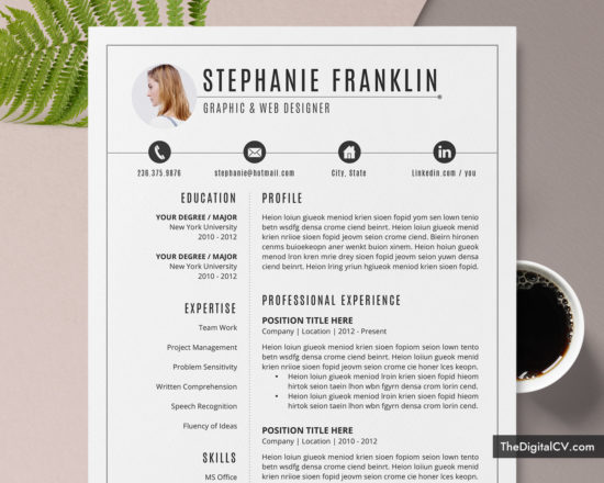 www.thedigitalcv.com-Resume-Stephnie-550x440 Teacher Cover Letter Template Microsoft Word on document recommendation, free christmas,