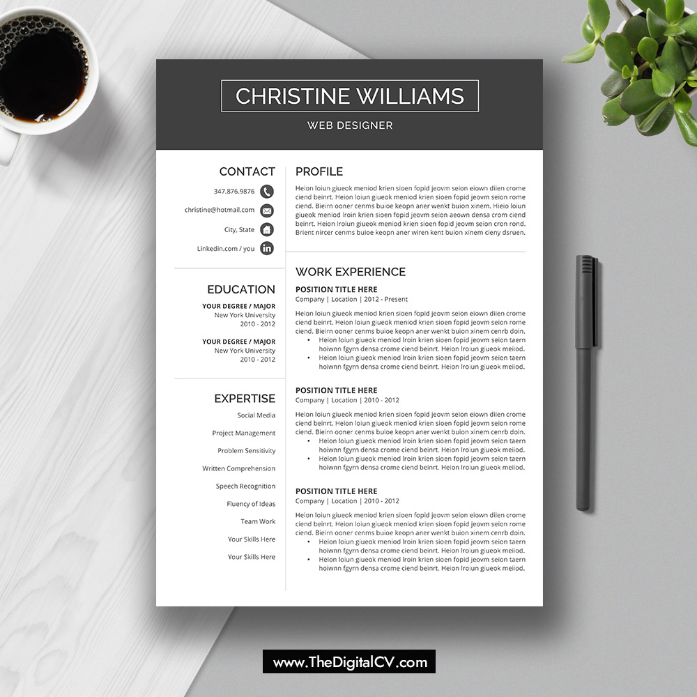 2019 cv template  cv format  resume template word 2019  cover letter  references  resume fonts