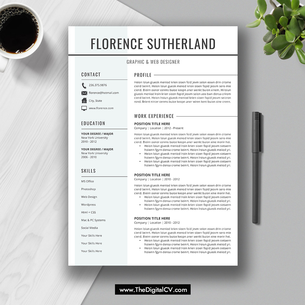2019-2020 Resume / CV Templates, Cover Letter, Resume Editing Guide ...