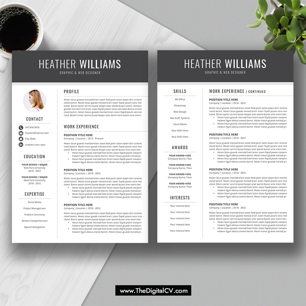 resume template for job application 2019