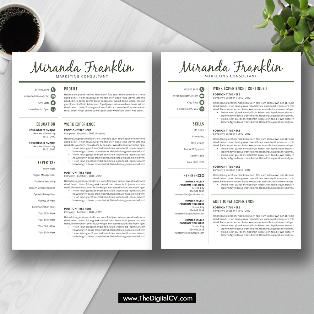CV Template 2019, Resume Template Word 2019, Cover Letter