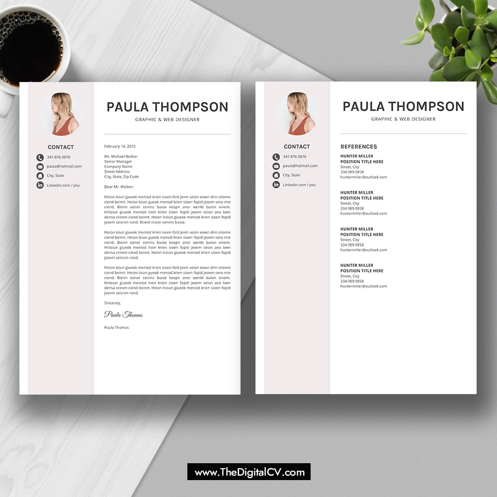 2019 modern resume template word  cv template  cv sample  cover letter  references  resume fonts