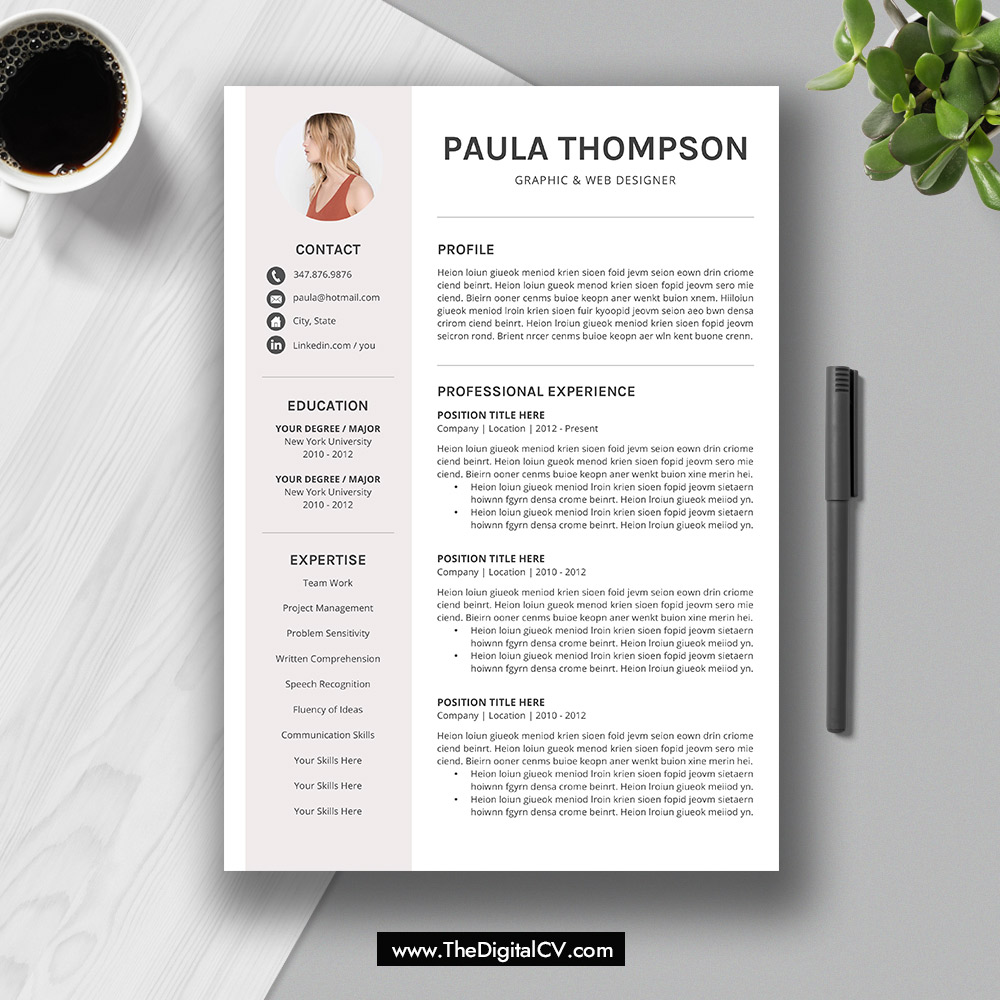 2019 modern resume template word  cv template  cv sample