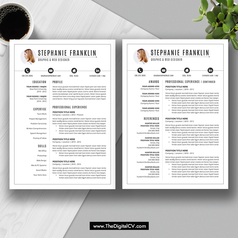 The Stephanie Resume: This Microsoft Office Word Resume ...