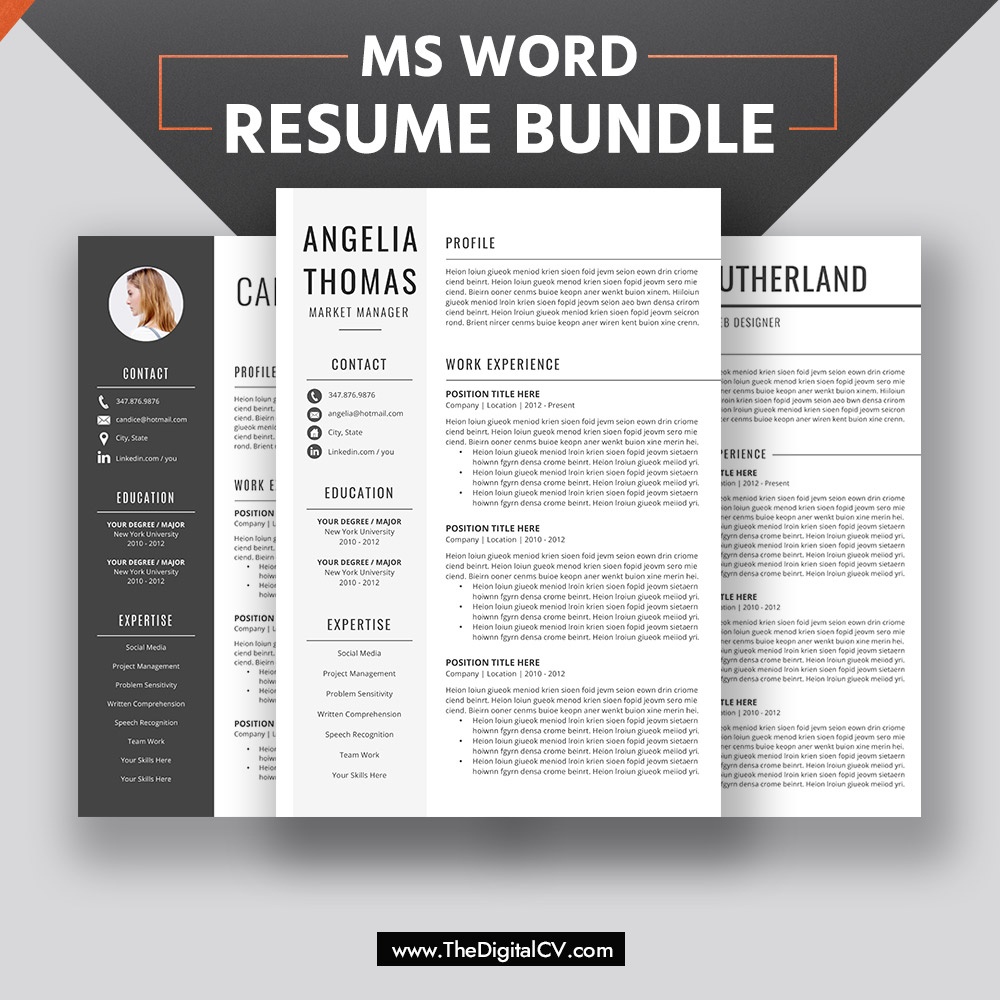 2019-2020 Resume Templates with Cover Letter and Resume ...