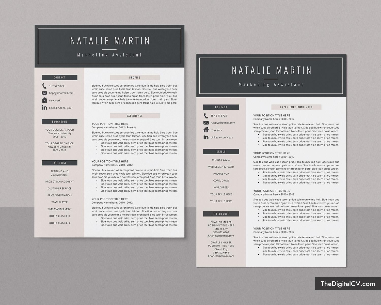 resume template    cv template for microsoft word  job