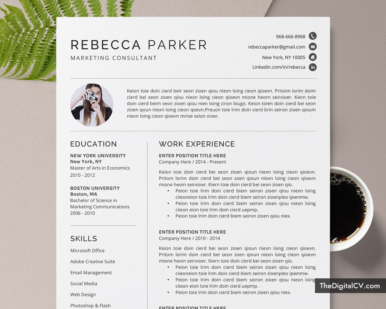 Professional Cv Format For Microsoft Word Cover Letter Modern Cv