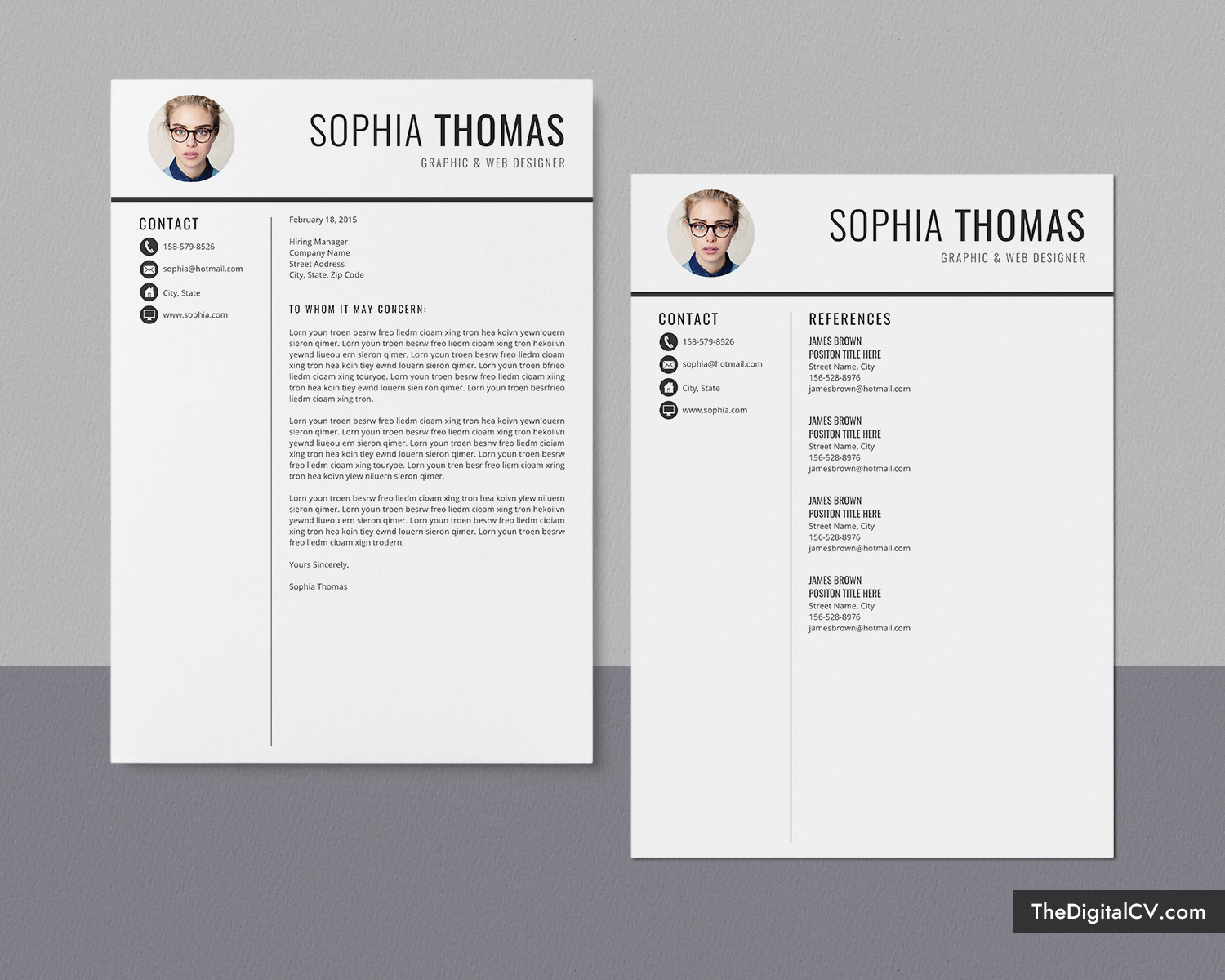 professional resume template    cv template design for 2020